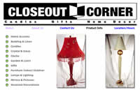 a product page on closeout corner